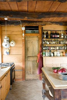 Open Shelf Pantry with jars (not earthquake-safe)