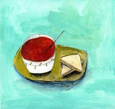 Elizabeth Graeber Food On Paper illustrations tomato soup