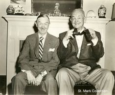 Laurel and Hardy - their last photo together. 1956.