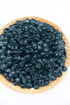 blueberry cream pie.
