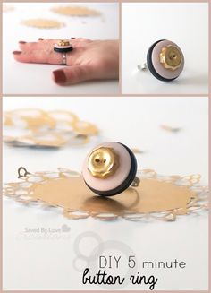 great craft for those extra buttons that you get when you buy clothing! #DIY