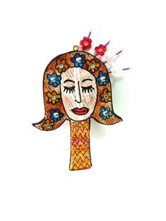 woman  wall Hanging by MIRAKRIS on Etsy, $38.00