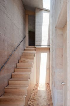 Woodblock staircase