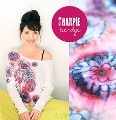 alisaburke: sharpie tie dye