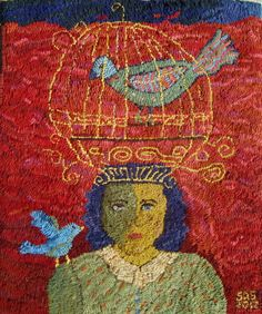 Sharon A Smith rug hooking