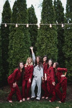 Fun winter wedding bridesmaid gift idea - flannel getting ready pajamas {John Myers Photography & Videography}