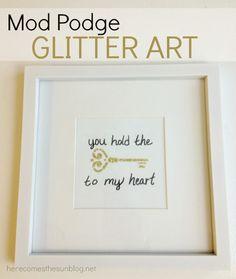 Mod Podge Glitter Art  I herecomesthesunblog.net