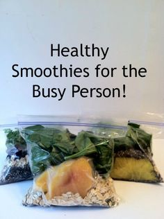 Healthy Smoothies for the Busy Person!