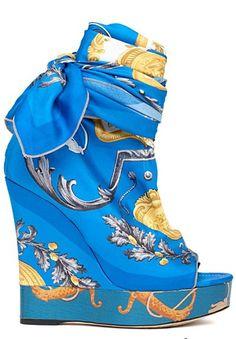 Dolce & Gabbana S/S 2012  >> Blue Wedge