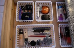 Keep junk drawers neat with bins velcroed to the bottom. | 52 Meticulous Organizing Tips For The OCD Person In You