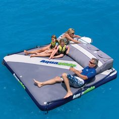 The Floating Private Island-cool!! @Katey Tyksinski Floistad. Look something like at the lake last summer? feature tanning raft