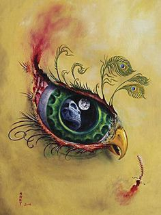 peacock feathers, bird paintings, tattoo ideas, doodle tattoos, eye tattoo, body paintings, eye art, exotic tattoo, awesome tattoos