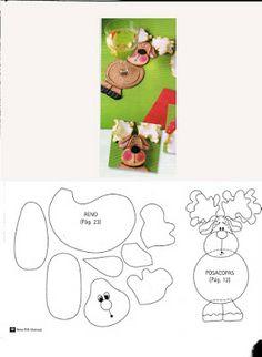 ARTE COM QUIANE - Paps,Moldes,E.V.A,Feltro,Costuras,Fofuchas 3D: Moldes de e.v.a para o natal