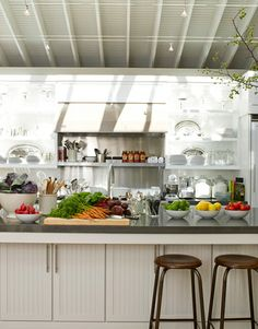 Ina's Kitchen: ...with a well-stocked and much-used kitchen..