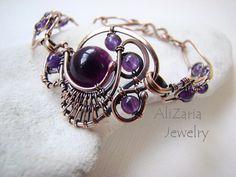 wire bracelet, wirewrap, ooak bracelet
