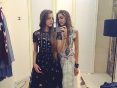 Twin+street+style+stars+and+Palestinian+fashion+royalty+Sama+Khadra+and+Haya+Khadra+dish+on+their+trip+to+Dubai+for+Chanel's+resort+show.