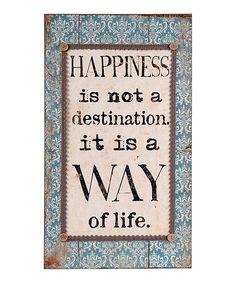 zulili zulilyfind, wall art, destinations, wilco zulilyfind, wall signs, frame, inspirational quotes, happiness, zulili today