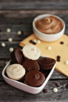Homemade Reese's Peanut Butter Cups. #food #chocolate #candy #Halloween