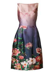Oscar De La Renta Printed Dress - Marissa Collections - Farfetch.com