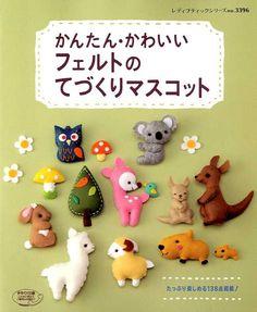 Easy Kawaii Felt Handmade Mascots - Japanese Craft Book. $19.00, via Etsy.