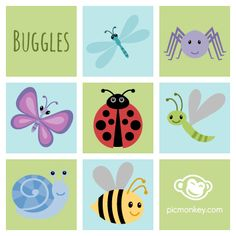Who knew bugs could be so cute? Use the color picker to change these Buggles' colors!