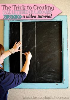 Want to learn the trick to creating hand-lettered chalkboard designs? This simple video tutorial will walk you through step-by-step to givin...
