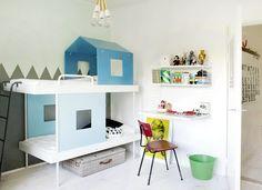 love the desk from shelves, too!