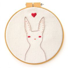 Stitch up your own lovely little rabbit with this free PDF embroidery pattern. thanks so xox