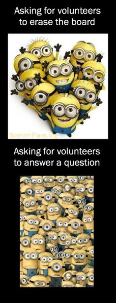 Asking for a Volunteer,