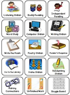 Great Literacy Station Icons!