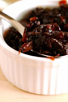 Onion Marmalade: This is a savory jam, for topping meat, etc.