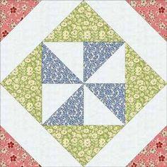 ~ Thirties Pinwheel-in-a-Square Block