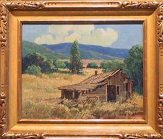Early California Impressionism - Rustic California by George Wallace Olson (1876-1938) c.1925