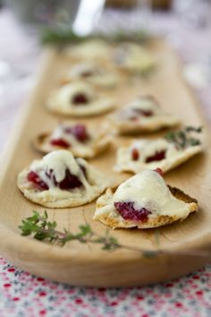Cranberry Horseradish Cheddar Bites! Follow the link to the website for the recipe.  These would be perfect for a dinner party!  Boar's Head makes a really yumy horseradish cheddar that is sold behind the deli counter.