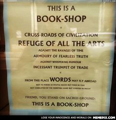 This is a book-shop