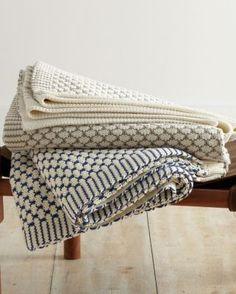 Weekend Knit Throw - Garnet Hill
