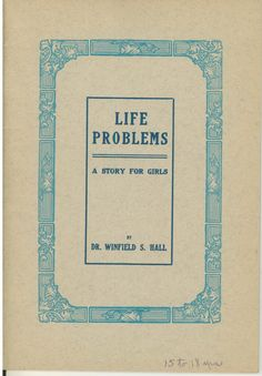 Life Problems Vintage Sex Education Book Story for Girls AMA. $15.00, via Etsy.