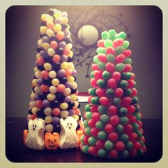 Gumdrop Trees: a Holiday Craft using Candy
