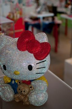 From Hello Kitty's 35th birthday celebration in Culver City
