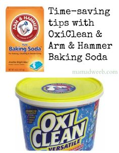 Time saving tips with Oxiclean and baking soda