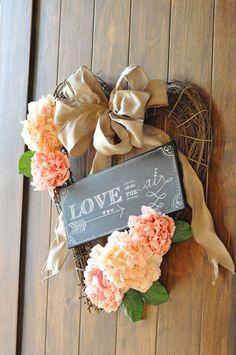 valentine's heart wreath & chalkboard art {tutorial} | Little Birdie Secrets