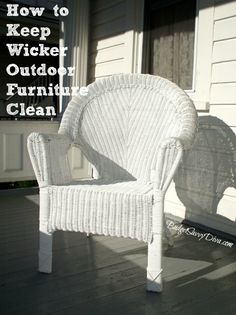 How to Keep Wicker Outdoor Furniture Clean