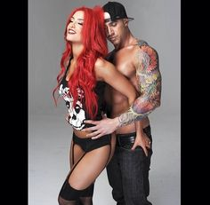 Eva Marie...LOVE her hair!! And he is  Caliente, cute couple.