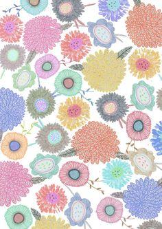 Big flowers illustration. Illustration by Amyislaillustration, $35.00