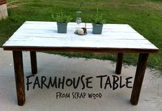 Farmhouse Table from Scrap Wood | Mom in Music City