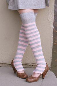 Pink n' grey legwarmers. $10.