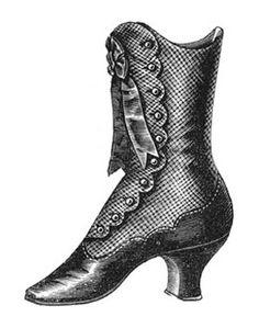 VintageFeedsacks: Victorian Lady and Shoe