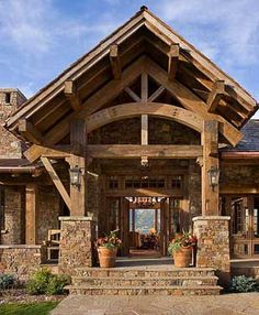 I dream of stone and natural wood exteriors: Osborn | Our Work | SBC | Schlauch Bottcher Construction, Inc. | Bozeman, Montana