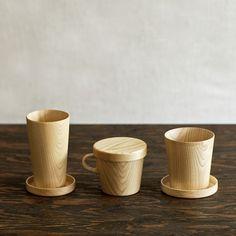 Kami Wood Mug  by Oji Masanori