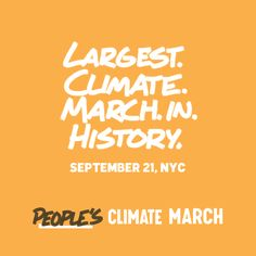 People's Climate March - 9.21.2014 - Spread the word!